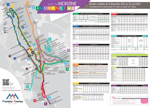 Guide navettes Morzine / Morzine bus guide