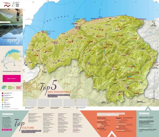 Carte touristique du Geopark / Geopark tourist map