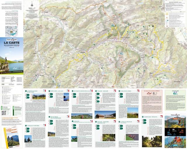 Carte des randonnées pédestres des PDS / PDS hiking map