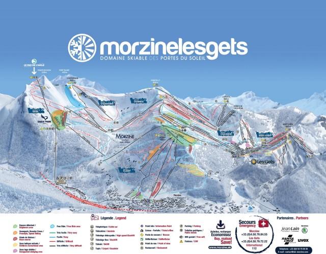 Plan des pistes Morzine - Les Gets