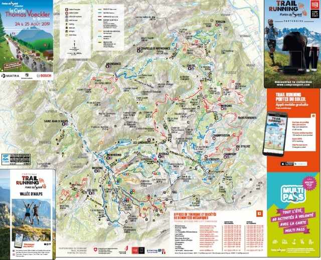 Plan des Pistes de Trail en Vallée d'Aulps / Vallée d'Aulps Trail map