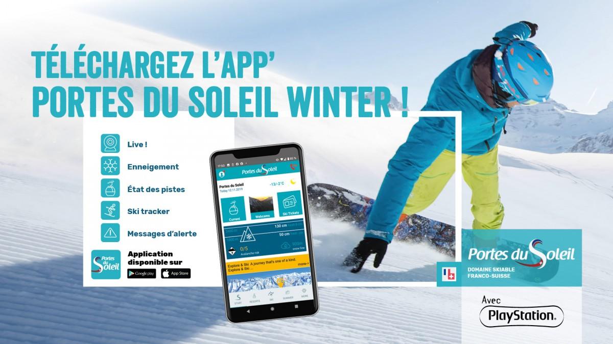 Application mobile Portes du Soleil Winter