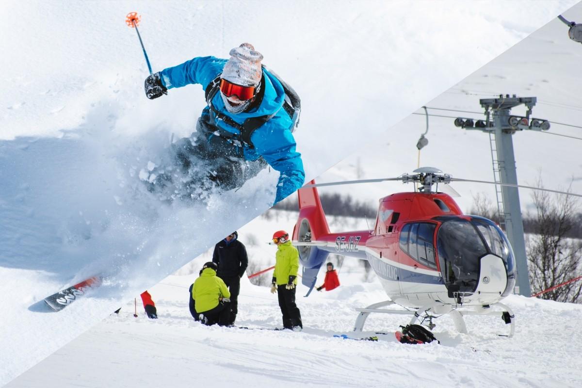 Off piste skiing & Heliskiing