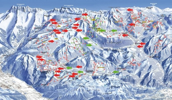 Portes du Soleil interactive map