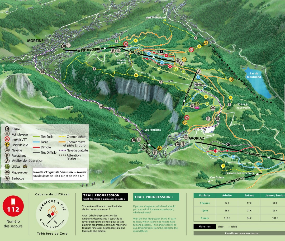 Avoriaz MTB Map