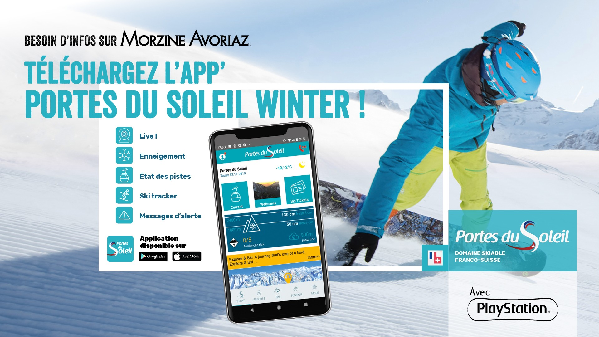 Application mobile Portes du Soleil Winter