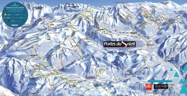 Morzine and Avoriaz ski map : consult pist maps of Portes du Soleil ...
