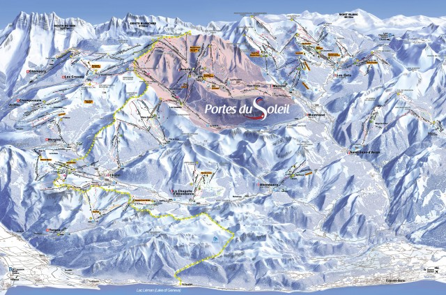 Morzine And Avoriaz Ski Map Consult Pist Maps Of Portes Du